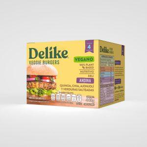Hamburguesa Vegetariana Andina Delike